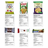 Deluxe Healthy Care Package - Canopy Snacks Box (30 Count) - Variety Assortment Bundle of Fruit Snacks, Granola Bars, Popcorn, Veggie Chips, and More!