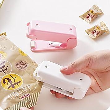rose 9 * 4 * 6CM Mini tragbare Lebensmittel-Versiegelungsger/ät Lebensmittelversiegelung Verpackungsmaschine//Lebensmittelversiegelungs-Werkzeuge 3.5 * 1.5 * 2.3inch