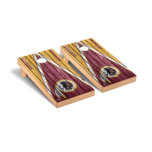 Victory Tailgate Washington Redskins NFL Football Regulation Cornhole Game Set Triangle Weathered Version