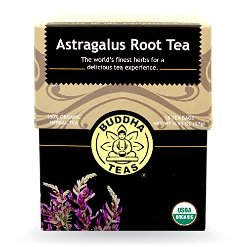Buddha Teas Astragalus Root Tea, 18 Count, 0.95 Oz, (Pack of 6)