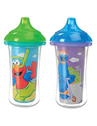 Munchkin Sesame Street Click Lock Insulated Sippy Cup, 9 oz., Colors May Vary, 2 Count BOBEBE Online Baby Store From New York to Miami and Los Angeles