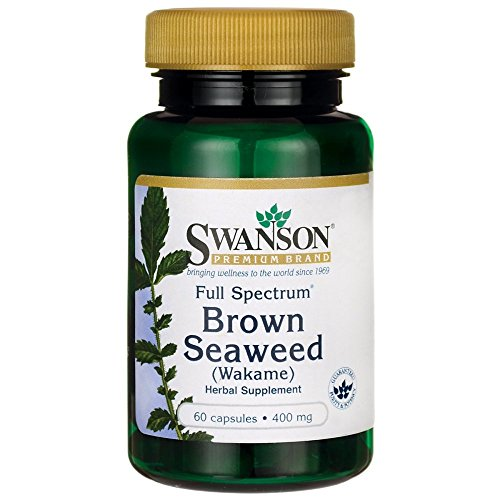 Swanson Full Spectrum Brown Seaweed (Wakame) 400 Milligrams 60 Capsules