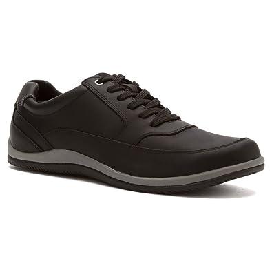 Vionic Branxton Leather Lace-up Casual Mens shoe Black - 8