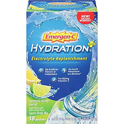 Emergen C Hydration+ Sports Drink Mix with Vitamin C