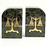Legal Bookends Scales of Justice
