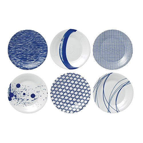 c Tapas Plates, 6.3-Inch, Blue, Set of 6 ()