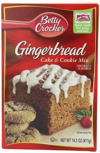 Betty Crocker Gingerbread Cake & Cookie Mix 14.5oz Box (Pack of 6)