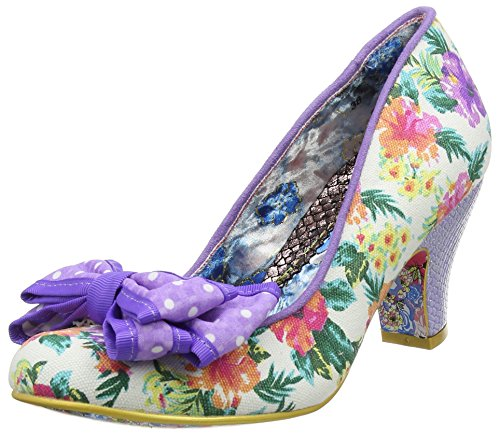 Irregular Choice Women's Ban Joe Closed-Toe Heels Purple (Purple Floral) ghqelNvS1Y