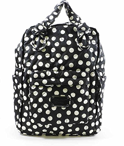 MARC BY MARC JACOBS Pretty Nylon Polka Dot Knapsack Backpack - Black / White