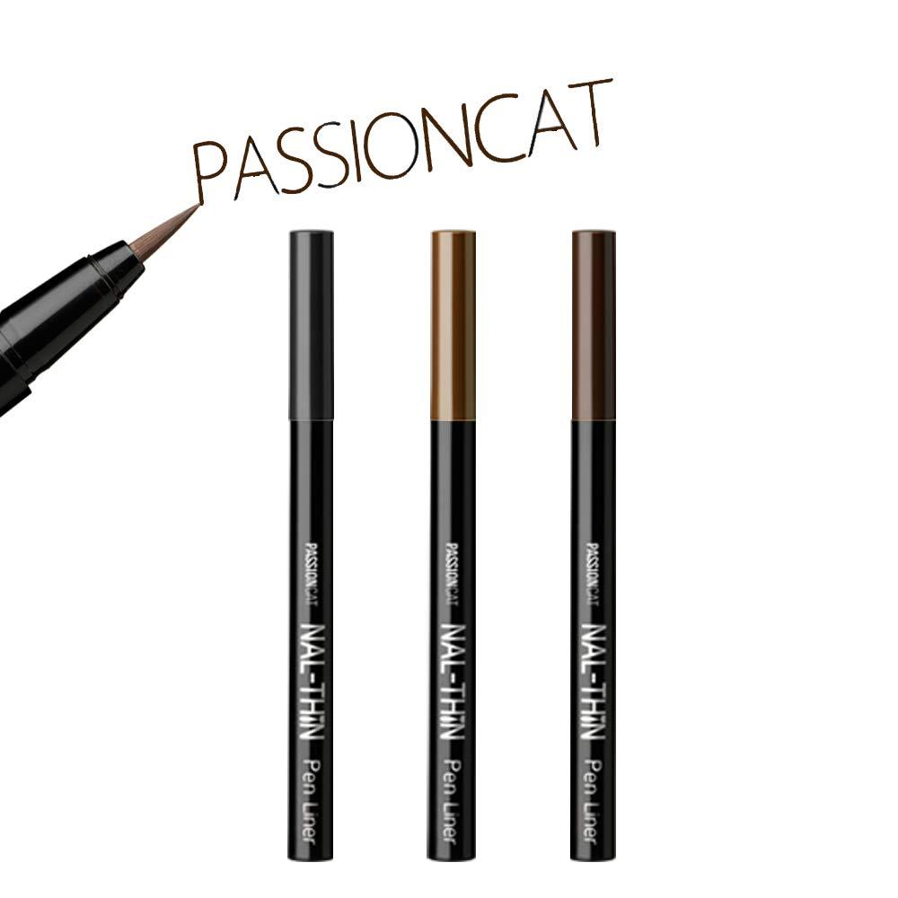 PASSIONCAT Super Slim Multi-proof Liner (Pen Type, Brown) - Ultra Slim Brown Ink Liner Waterproof Liquid Eyeliner Easy to Draw Long Lasting