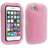 Veatool iphone 6 Plus Case, [Plush Series] and Stylish Rex Rabbit Fur [Cute] for iPhone 6s Plus(2015) - Pink