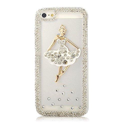 """EVTECH (TM) Coque 3D Bling Strass Case Transparent Back Cover Cristal Etui Housse Hard Coque pour iPhone 6 plus 5.5"""" (2014)"""