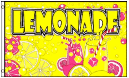 LEMONADE Flag Business Concession Stand Sign 3 x 5 Foot Banner Lemon Food Tent]()