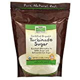 NOW Foods, Certified Organic Turbinado Sugar, Alternative to White and Refined Brown Sugar, Certified Non-GMO, 2.5-Pound