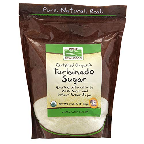 NOW Foods Organic Turbinado Sugar, 2.5 lbs