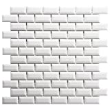 Retro Subway Beveled Glossy White 12 x 12 Inch Porcelain Floor & Wall Tile (10 Pcs/10 Sq. Ft. Per Case, $1 Standard Shipping) by SOMERTILE