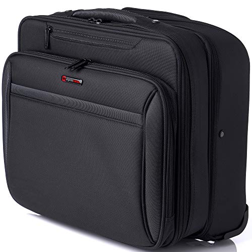 Alpine Swiss Rolling Laptop Briefcase Wheeled Overnight Carry on Bag Up to 15.6 Inches Notebook - Carries Legal Size Files by alpine swiss (Image #9)