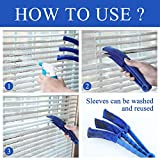 HIWARE Window Blind Cleaner Duster Brush with 5