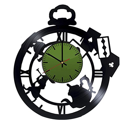 Fantasy Characters Figures Wall Clock – Vinyl Record Wall Clock - Adventure Film Wall Art Design – Cool Gift Idea For Children – Best Goods For Home ()
