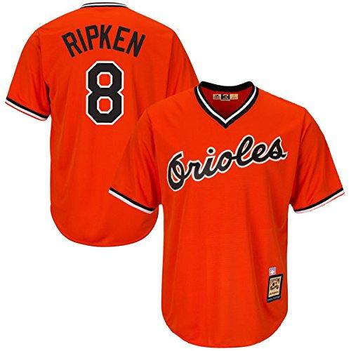 (Majestic Cal Ripken Jr. Baltimore Orioles #8 MLB Men's Cool Base Cooperstown Pullover Jersey (5XL))