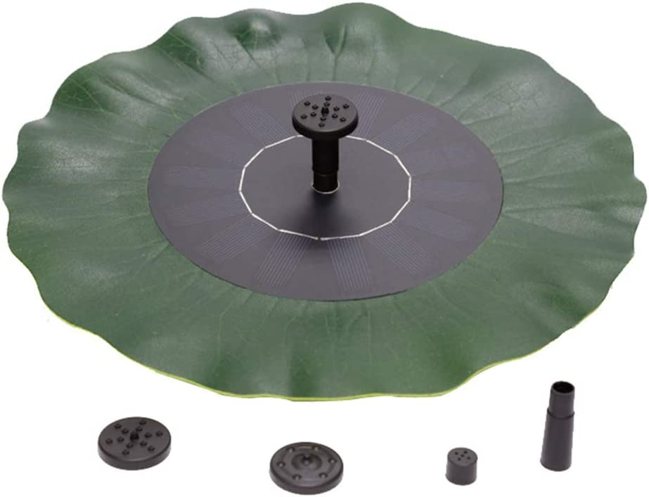 Solar Fountain,Free Standing Floating Lotus Leaf Solar Bird Bath Fountain Pump for Garden Pond Pool and Outdoor