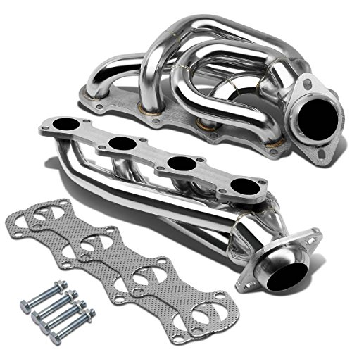 5.4l Header Exhaust - For 97-03 Ford F-150/F-250 4-1 Design 2-PC Stainless Steel Exhaust Header Kit - 5.4L V8