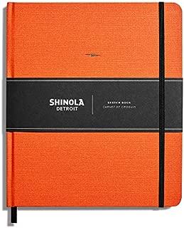 product image for Shinola Journal, HardLinen, Plain, Sunset Orange (8 x 9.25)
