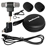 Fantaseal Stereo Mic Kit for GoPro Microphone GoPro Travelling Microphone GoPro Interview Microphone w/ Stereo Windproof Mic +Extension Cable + Sterero GoPro Mic Adapter Converter for Hero 4 / 3+ /3