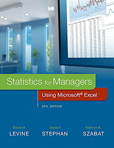 Statistics for Managers Using Microsoft Excel Plus MyLab Statistics  with Pearson eText -- Access Card Package (8th Edition)