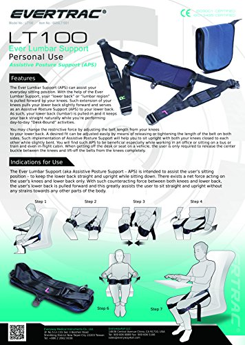 Everyway4all EverTrac Taiwan LT100 Lumbar back support adjustable personal belt by Everyway4all (Image #1)