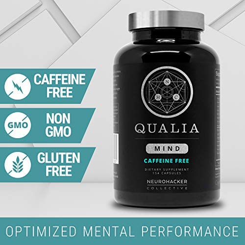 Qualia Mind Nootropic | Premium Brain Booster Supplement for Memory, Focus, Clarity and Concentration Support with Bacopa monnieri, Ginkgo biloba, DHA, Alpha GPC, B12 & More (154 Ct Caffeine-Free) by Neurohacker Collective (Image #3)