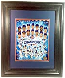 2016 World Series Champions Chicago Cubs Team Composite Matted and Framed Photo