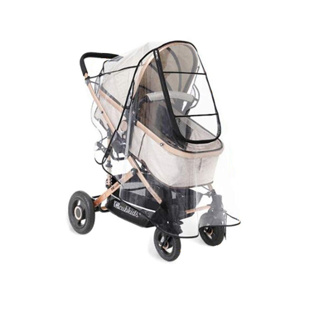 Baby Stroller Rain Cover Universal EVA Pram Jogging Stroller Protection from Rain Wind Snow Dust Insects (Large, EVA)