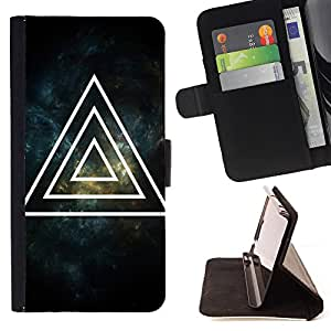 - Space Man night moon - - Monedero pared Design Premium cuero del tir?n magn?tico delgado del caso de la cubierta pata de ca FOR Sony Xperia M2 Funny House