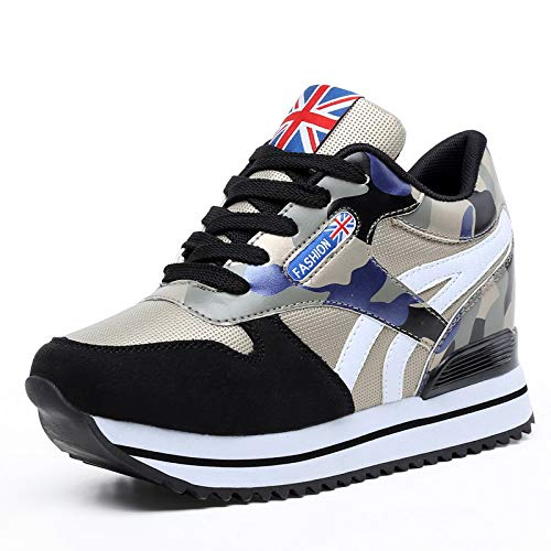 Shoes JIAODANBO Korean Women'S Gold Sports Sponge Shoes New Shoes Autumn Ladies 2018 Casual Camouflage Cake Shoes Fashion Increased axqUC