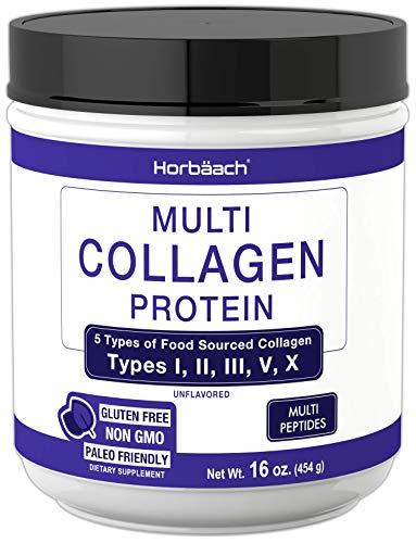 Multi Collagen Powder | 16.2 oz | Type I, II, III, V, X | Hydrolyzed Collagen Peptide Protein Powder | Keto & Paleo Friendly | Unflavored | Non-GMO, Gluten Free | by Horbaach