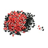 Aexit 12AWG Cable Audio & Video Accessories Pre Insulation Ferrules Connectors E4009 Black Connectors & Adapters Red 380Pcs