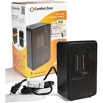Amazon Com Comfort Zone Ceramic Heater In Black Home