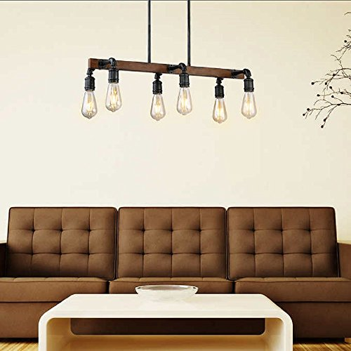 Amazoncom Beautiful Industrial Inspired 6 Light Led Chandelier