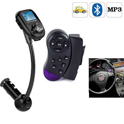 Steering Wheel Control +LCD Car Kit MP3 Bluetooth Player FM Transmitter Radio FM Modulator SD MMC USB Audio Stereo Remote New
