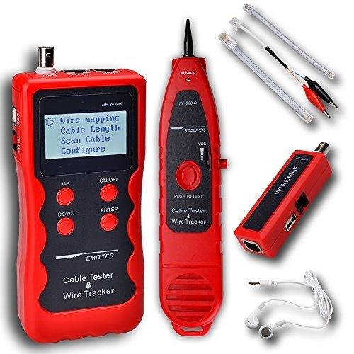 Noyafa NF-868-B NF-868 Network LAN Phone Tester wire Tracker Cable Length 1200m USB coaxial RJ45 11 BNC