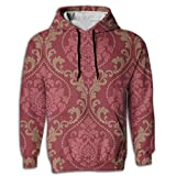 Paskcc Men's Hoodie Cool Hoody Oversized Egyptian Traditional Red Young and Reckless