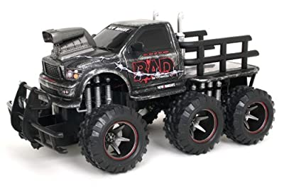 Bright 114 Rc Bad Six-wheeler Ff Scratch Print Finish from New Bright