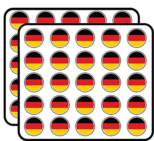 Germany Flag Sticker for Scrapbooking, Calendars, Arts, Kids DIY Crafts, Album, Bullet Journals 50 Pack ()