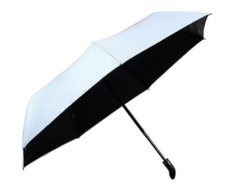 Modesty-Paraguas plegable y compacto plegable sistema automático de apertura muy resistente (Azul claro