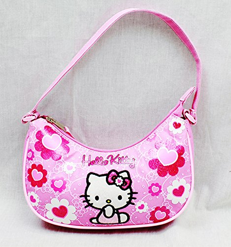 Handbag - Hello Kitty - Pink Flower Bow New Hand Bag Purse Girls 84019