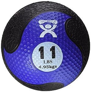 Cando W67555 Medizinball aus Gummi, 5,0 kg, Blau