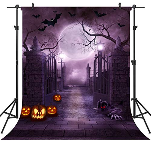 OUYIDA 5X7FT Halloween Theme Pictorial Cloth Customized Photography Backdrop Background Studio Prop TP262A ()
