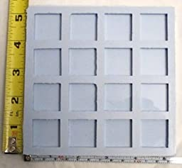 Reusable silicone mold 1 inch square 16 cavity