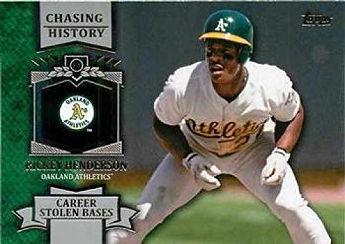 - 2013 Topps Chasing History #CH-8 Rickey Henderson Athletics MLB Baseball Card NM-MT